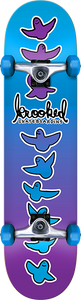 KROOKED SKATEBOARDS BIRDICAL FADES COMPLETE-8.25 BLU/PUR