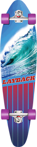 LAYBACK LONGBOARDS GOING LEFT COMPLETE-9.75x38