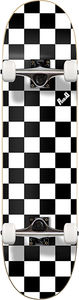 PUNKED DECKS CHECKER COMPLETE-7.75 WHT/BLK ppp