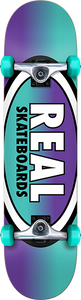 REAL SKATEBOARDS OVAL FADES COMPLETE-8.0 PUR/TEAL