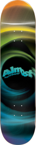 ALMOST SKATEBOARDS SMEAR DECK-8.0 YEL/BLU