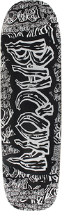 BACON SKATEBOARDS COLLAGE FONT DECK-8.6x31.75 BLK/GREY