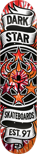 DARKSTAR CIVIL EMBOSS DECK-8.25 RED TIE DYE