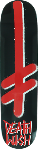DEATHWISH GANG LOGO DECK-8.0 BLK/RED