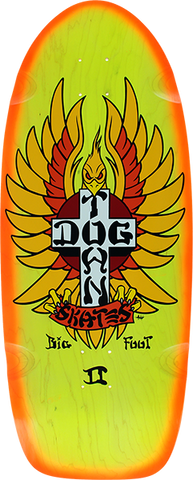 DOGTOWN BIG FOOT II RIDER DECK-12x31 YEL/ORG
