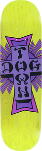 DOGTOWN STREET CROSS DECK-8.25 YELLOW/PURPLE