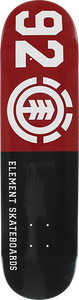 ELEMENT 92 CLASSIC DECK-7.7 BLK/RED/WHT