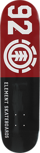 ELEMENT 92 CLASSIC DECK-8.0 BLK/RED/WHT