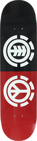 ELEMENT PEACE DECK-7.7 BLK/RED/WHT