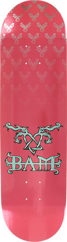 ELEMENT BAM HEARTAGRAM DECK-8.2 PINK/SILVER