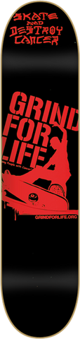 GRIND FOR LIFE LOGO DECK-7.75 BLK/RED