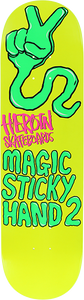 HEROIN SKATEBOARDS MAGIC STICKY HAND II DECK-8.25 YELLOW