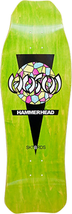 HOSOI HAMMERHEAD STAINED GLASS DECK-10.25x31 GRN