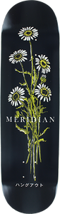 MERIDIAN MAYBE MONDAY FLOWER DECK-8.25 BLACK