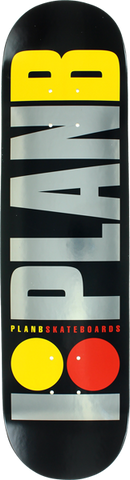 PLAN B TEAM OG LOGO DECK-7.7 BK/SIL/YEL/RD blk.ice