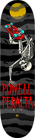 PWL/P HANDPLANT SKELLY DECK-8.0 CHARCOAL/BLK/RED