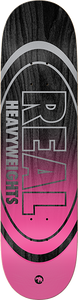 REAL SKATEBOARDS HEAVYWEIGHTS DECK-8.5 BLACK STAIN/PINK