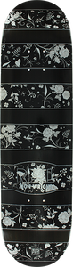 REAL SKATEBOARDS WRIGHT FLORAL DECK-8.06 BLK/WHT lp-mellow