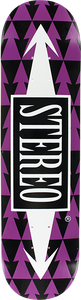 STEREO ARROW PATTERNS DECK-8.5 BLK/PUR