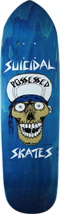 SUICIDAL SKATES PUNK POINT SKULL DECK-8.75x32.87 BLUE
