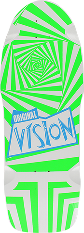 VISION THE ORIGINAL VISION DECK-10x30 WHT/GRN