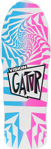 VISION GATOR II DECK-10.25 WHT FADE BLU/PUR/PINK