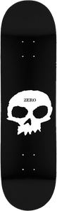 ZERO SINGLE SKULL DECK-8.25 BLK/WHT