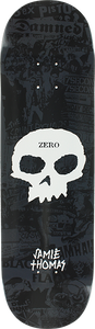 ZERO THOMAS PUNK BAND SKULL DECK-8.37 BLK/WHT
