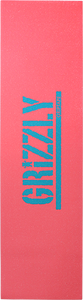 GRIZZLY GRIPTAPE 1-SHEET REVERSE STAMP GRIP CORAL/TEAL