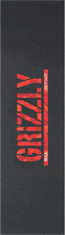GRIZZLY 1-SHEET MSA CAMO STAMP BLK/RED CAMO