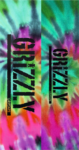 GRIZZLY 20/BOX STAMP GRIPTAPE REVERSE TIE DYE