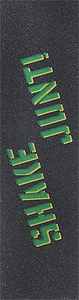 "SHAKE JUNT SINGLE SHEET SPRAYED BLK/GREEN GRIP 9""x33"""