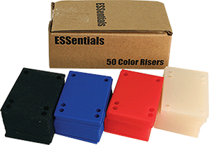 "ESSENTIALS (50/PK)SHOCK PAD-ASSORTED 1/8"" ppp"