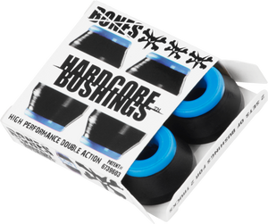BONES HARDCORE 4PC SOFT BLACK/BLUE BUSHINGS