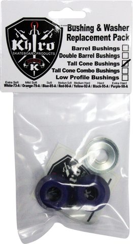 KHIRO TALL CONE BUSHING/WASH KIT 85a SOFT BLUE