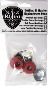 KHIRO TALL CONE BUSHING/WASH KIT 90a MED RED