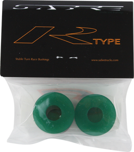 SABRE R-TYPE BUSHINGS 93a CLR.GREEN 2pk w/washers