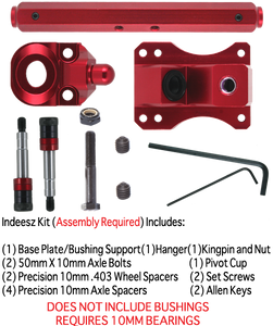 SZ TKP 10mm 127mm 45° RED 1-TRUCK KIT