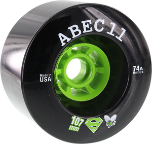 ABEC11 SUPERFLY ELECTRIC FLYWHEELS 107mm 74a BLACK