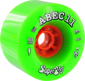 ABEC11 SUPERFLY ELECTRIC FLYWHEELS 107mm 74a GREEN