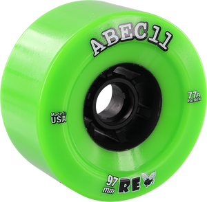 ABEC11 FLYWHEELS REFLY 97mm 77a LIME/BLK