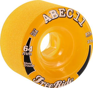 ABEC11 FREERIDE STONE GROUND 64mm 81a AMBER/CLR