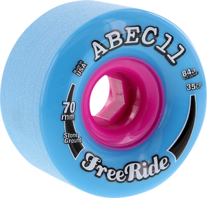 ABEC11 FREERIDE STONE GROUND 70mm 84a BLUE/PINK