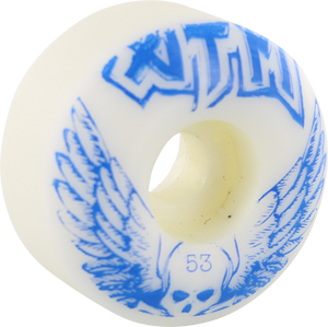ATM SKULL WINGS 53mm WHT/BLU