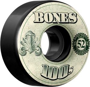 BONES 100's OG #11 52mm BLACK W/MONEY ppp
