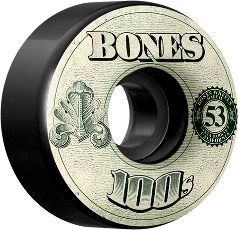 BONES 100's OG #11 53mm BLACK W/MONEY ppp