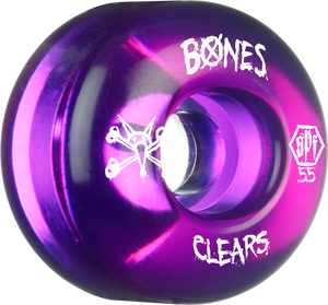 BONES SPF CLEARS 55mm CLEAR PURPLE