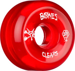 BONES SPF CLEARS 56mm CLEAR RED