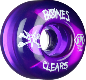 BONES SPF CLEARS 56mm CLEAR PURPLE