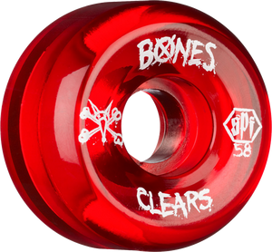 BONES SPF CLEARS 58mm CLEAR RED